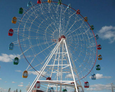 Ferris Wheel Ride With Vintage Appearance