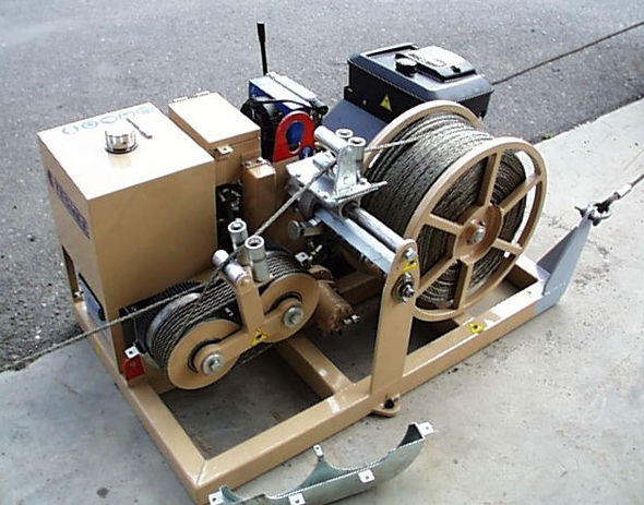 ellsen capstan winch with cable puller for sale