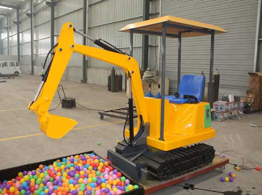 Small kids diggers & excavator rides