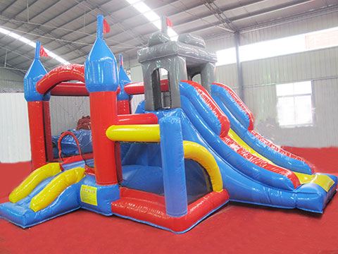 Hot sale small inflatable bounce house with slide for kids