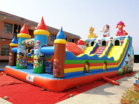 Large inflatable bounce house with slide for sale