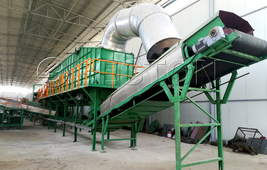 Beston Garbage Sorting Plant was Successfully Installed in Uzbekistan